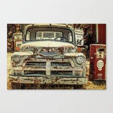 Vintage Truck Route 66 Canvas Print