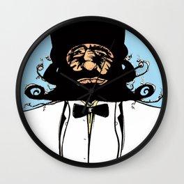 """Mustachat in Technicolor"" Wall Clock"