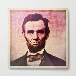 Lincoln: The Ballot is Stronger than the Bullet Metal Print