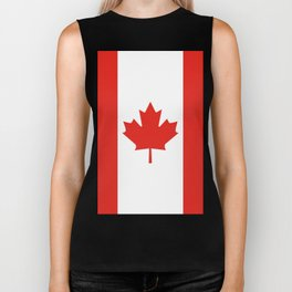Red and White Canadian Flag Biker Tank