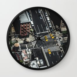 Little Yellow Cabs Wall Clock