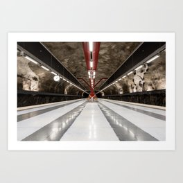 Duvbo Metro Station in Stockholm, Sweden Art Print