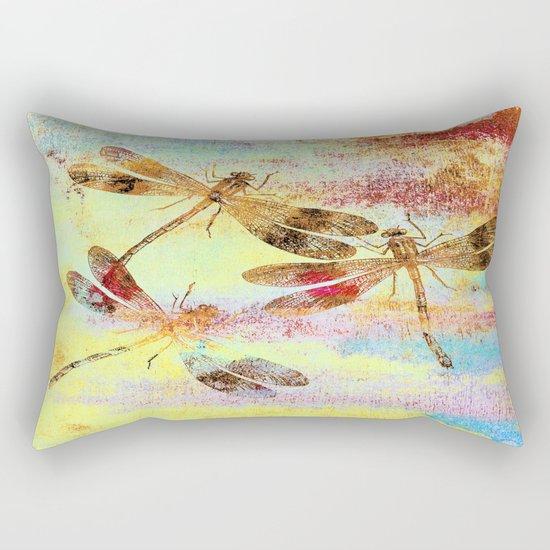 Mauritius Vintage Dragonflies Colours S Rectangular Pillow