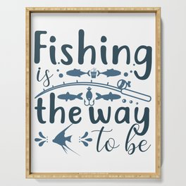 Fishing the way Serving Tray