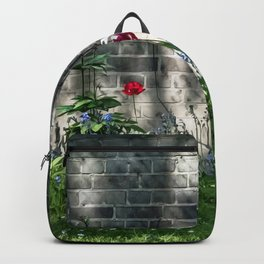 Early summer cottage Backpack