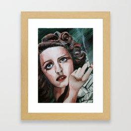 Bette Davis Eyes Framed Art Print