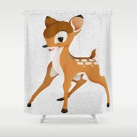 bambi Shower Curtains featuring Bambi by MandiMccl