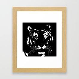 Black n white tiger Framed Art Print
