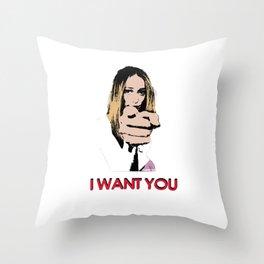 """I want you"" Alycia Debnam Carey Throw Pillow"