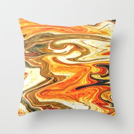 Marbled XIII Throw Pillow
