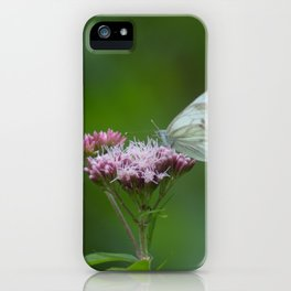 butterfly and the flower iPhone Case
