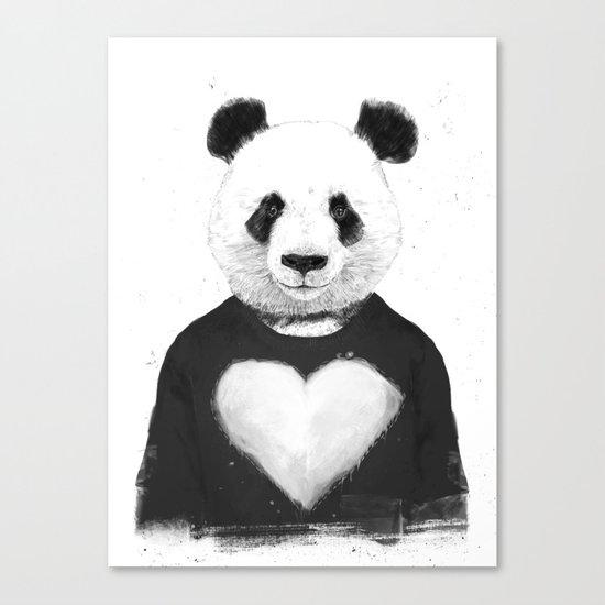 Lovely panda Canvas Print
