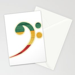 Colorful Bass Clef Stationery Cards