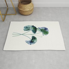 Water lily leaves Rug