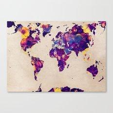 world map 20 Canvas Print