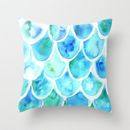 Mermaid in Details | Squama Throw Pillow