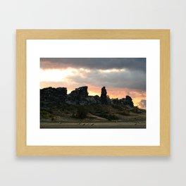 Devilswall 02 Framed Art Print