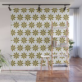 Geometic Patter - Golden Star I Wall Mural