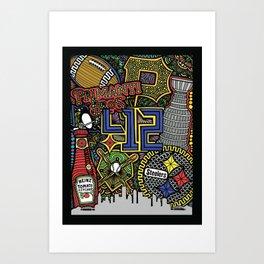 Zentangle - PGH  Art Print