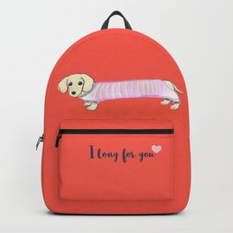 Valentine's Day dachshund dog Backpack