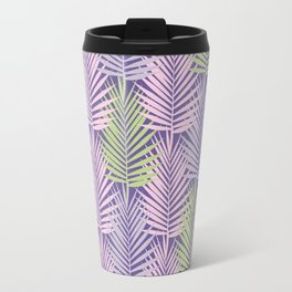Ultra violet tropical palm leaves seamless pattern. Travel Mug