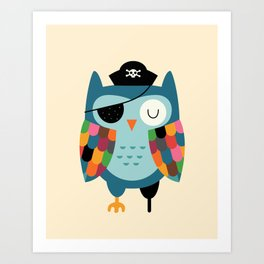 Captain Whooo Art Print
