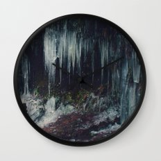 Ice Spikes Wall Clock