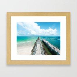 Miami Beach Jetti Framed Art Print