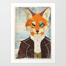 Foxy le dandy Art Print