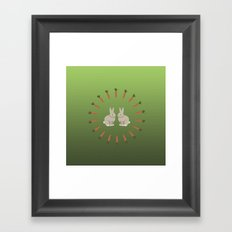 Carrots and Rabbits Framed Art Print