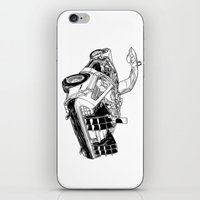 delorean iPhone & iPod Skins featuring delorean by marzini