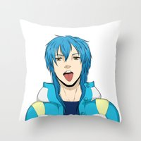 dmmd Throw Pillows featuring AOBA by jean-huh-kirschnickerdoodle