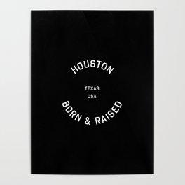 Houston - TX, USA (Badge) Poster