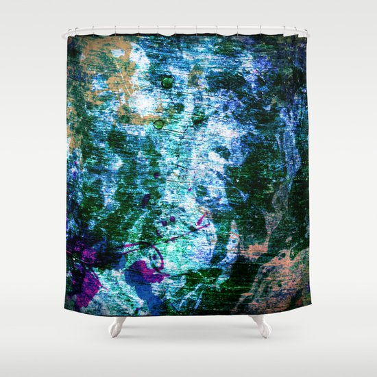 Face In Wood Abstract One Shower Curtain By Minx267