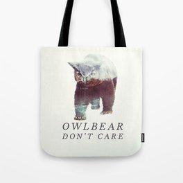 Owlbear (Typography) Tote Bag