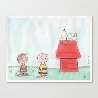 peanuts Canvas Prints featuring Peanuts by Smash Art