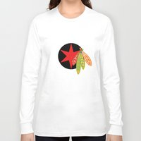 blackhawks Long Sleeve T-shirts featuring City of the Four Feathers - Alternate by fohkat