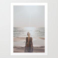 Long Beach Sunset II Art Print
