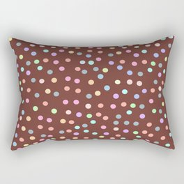 chocolate Glaze with sprinkles. Brown abstract background Rectangular Pillow