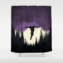 Rider In The Dark Shower Curtain