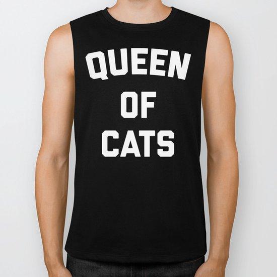 Queen Of Cats Funny Quote Biker Tank