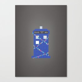tardis at christmas Canvas Print