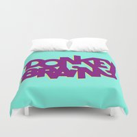 donkey Duvet Covers featuring Donkey Brain by Josh LaFayette