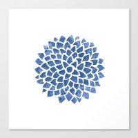 indigo Canvas Prints featuring Indigo by Color and Form