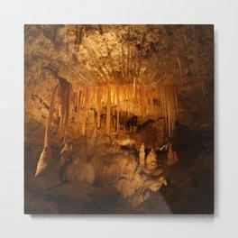 Limestone Cave Formations Metal Print
