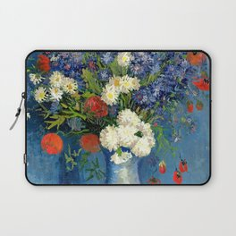 Vase With Cornflowers And Poppies Laptop Sleeve