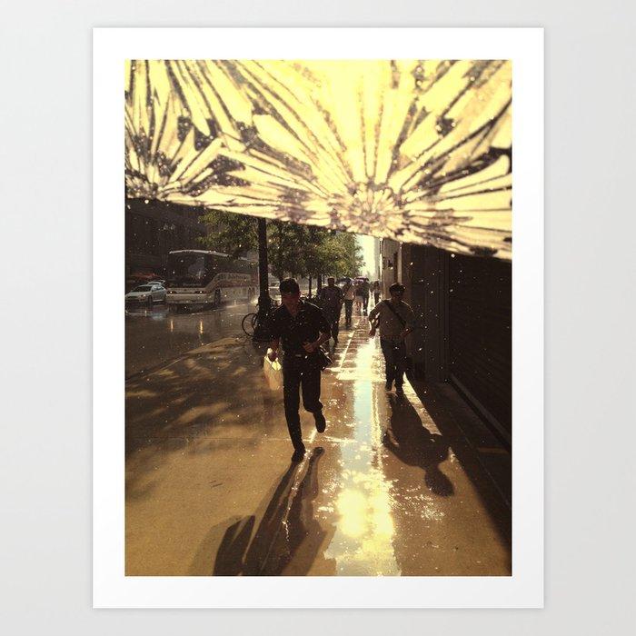 The Rain Runners Art Print