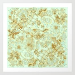 Mint Garden Art Print