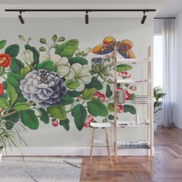 Chinese flower painting from the Qing Dynasty Wall Mural