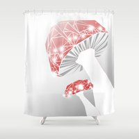 mushrooms Shower Curtains featuring MUSHROOMS by ARCHIGRAF